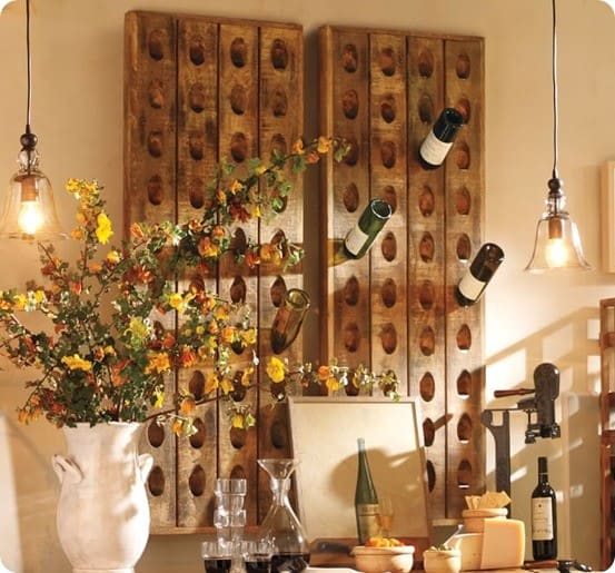 French Wine Bottle Riddling Rack from Pottery Barn