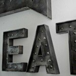 DIY Faux Metal Wall Signs