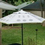 Floral Medallion Painted Patio Umbrella