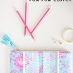 Pom Pom Clutch Sewing Tutorial