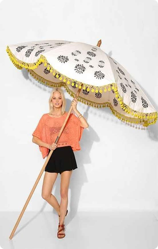 Magical Thinking Floral Medallion Umbrella