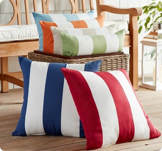 Pottery Barn Classic Stripe Outdoor Pillow
