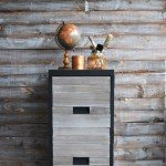 Wood Plank Filing Cabinet Makeover