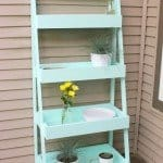 DIY Ladder Shelf for the Patio