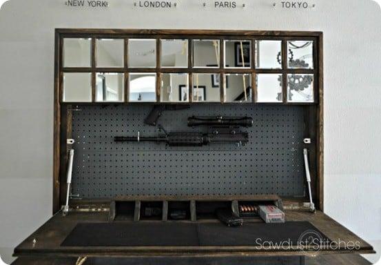 Wall Mirror With Hidden Gun Storage Knockoffdecor Com