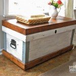 Rustic Wood Storage Trunk