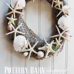 Beachy Shell Wreath for Summer