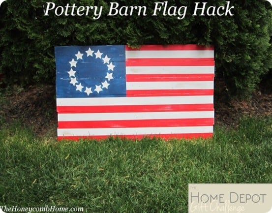 Pottery Barn Inspired Wod American Flag