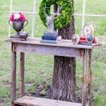 Rustic Console Table from Fence Wood