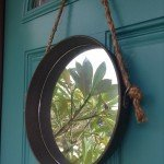 Metal and Rope Wall Mirror