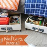 Wooden Under-the-Bed Rolling Storage Bins