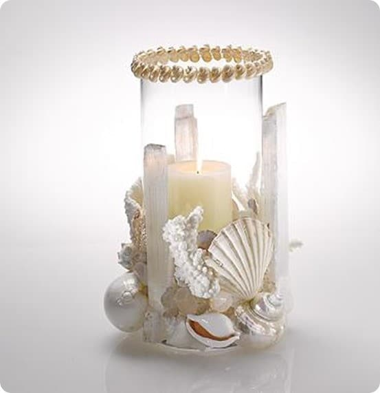 Seashell Crystal Hurricane Votive