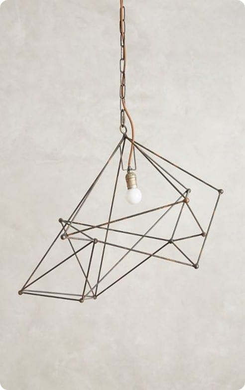 Small Wire Web Pendant Light
