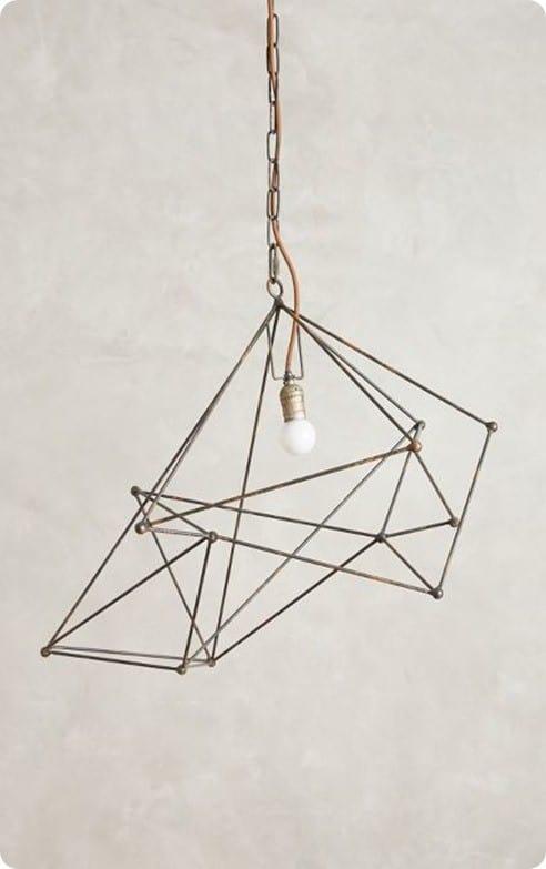 Small Wire Web Pendant Light