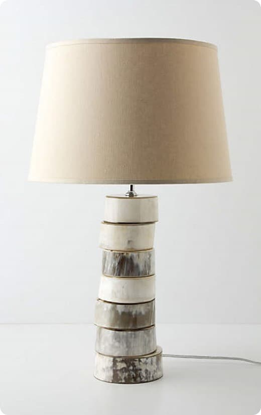 Stacked Horn Lamp Base from Anthropologie