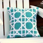 Cane Pattern Outdoor Pillow