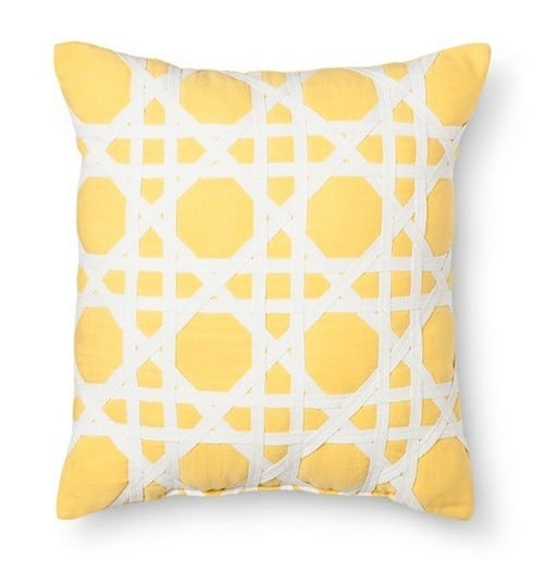 Threshold Cane Pattern Decorative Pillow