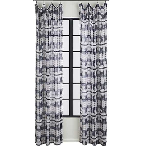 Tie Dye Curtain Panel