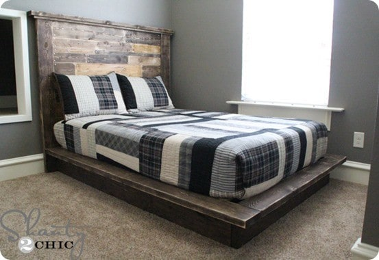 West Elm Inspired Platform Bed