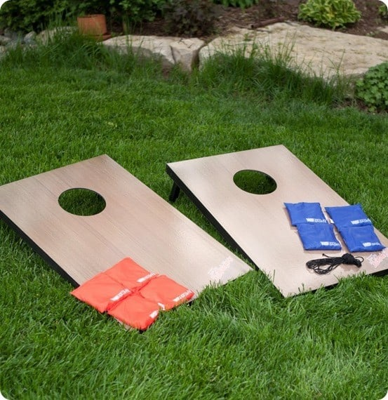 Wild Sports Wooden Tailgate Toss Cornhole Set