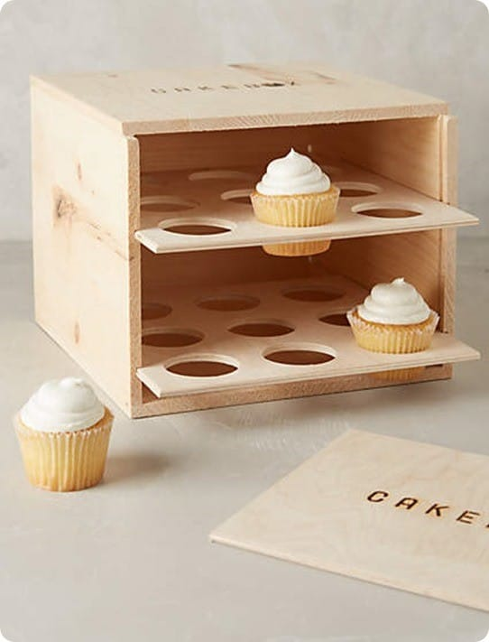 Wooden Cupcake Box Carrier