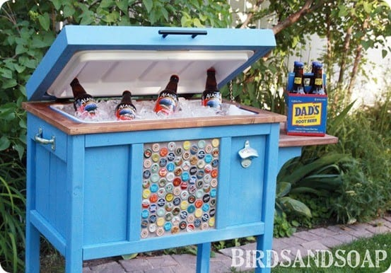 Wooden Outdoor Cooler Stand