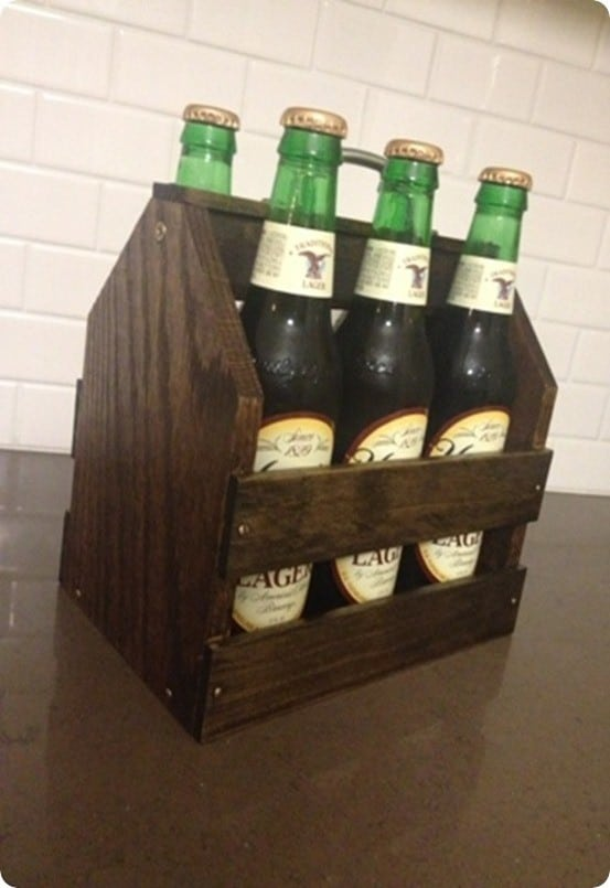 Wooden Six Pack Bottle Crate