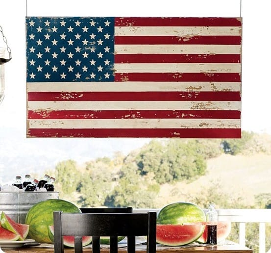 painted american flag