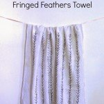 Feather Design Kitchen Towel