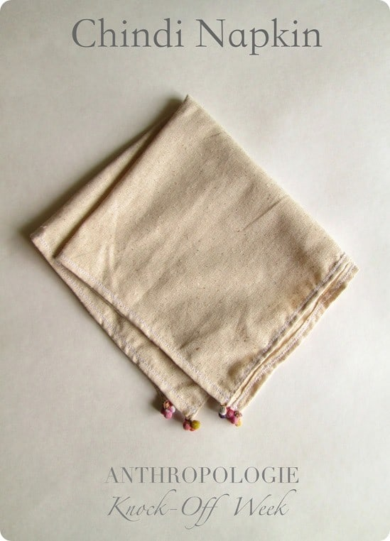 Anthropologie Knock Off Chindi Napkin