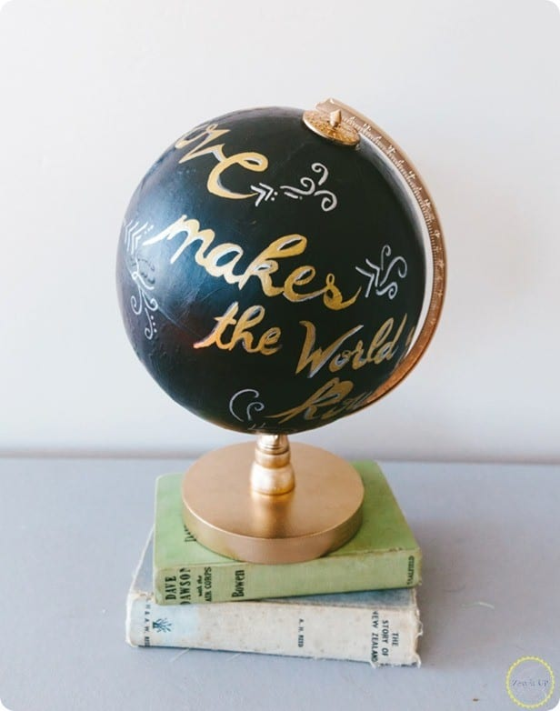 Painted Globe With Quote Knockoffdecor Com