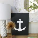 Black and White Anchor Canvas Art
