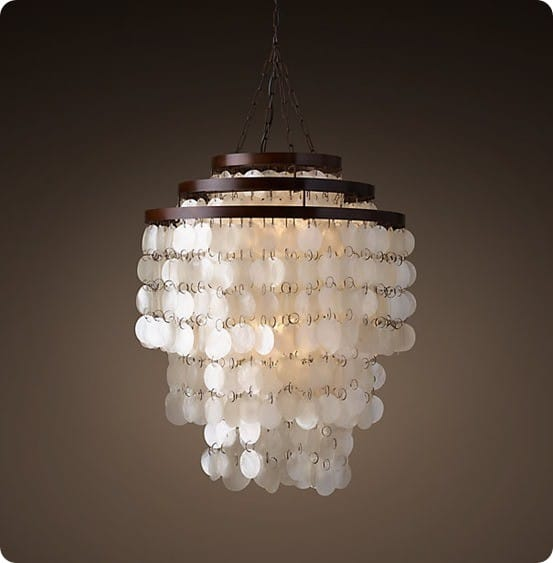 Capiz Three Tier Chandelier from Restoration Hardware