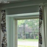 DIY Floral Applique Curtains