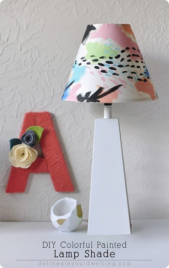 DIY Colorful Painted Lampshade inspired by Land of Nod