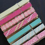 Washi Tape Clothespin Craft
