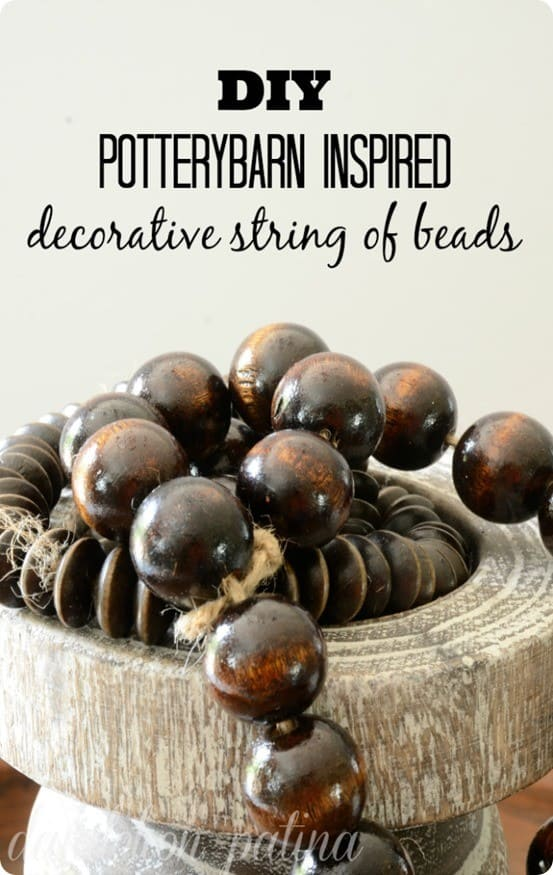 DIY Decorative Wood Beads inspired by Pottery Barn