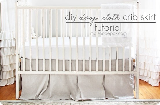 DIY Drop Cloth Crib Skirt Tutorial
