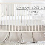 """Linen"" Crib Skirt from Drop Cloth"