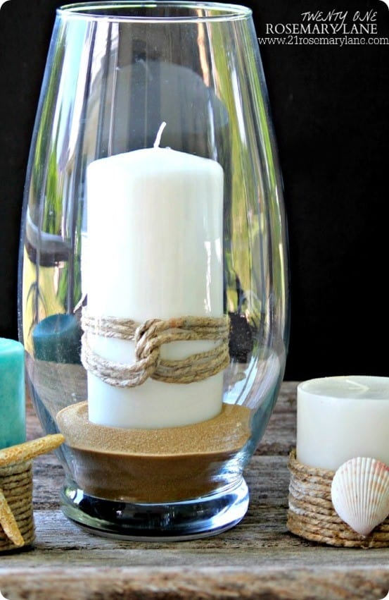 DIY Nautical Candles inspired by Pottery Barn
