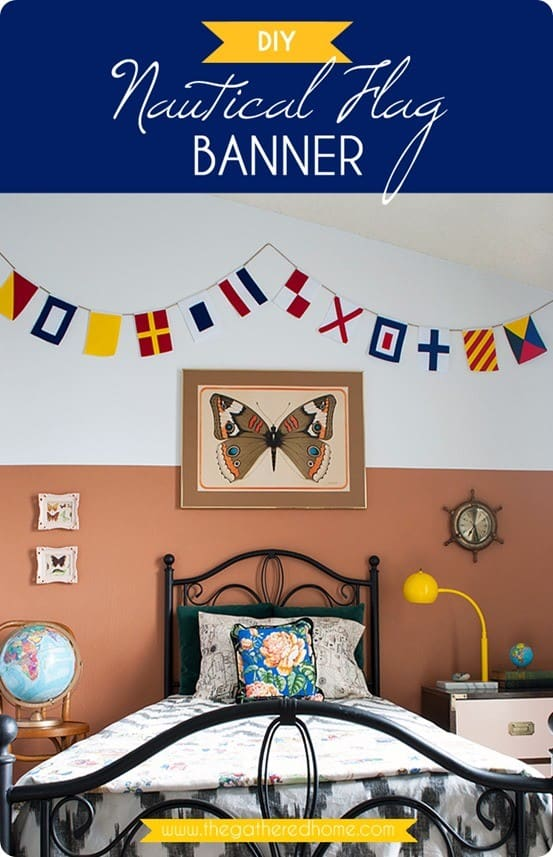 DIY Nautical Flag Banner