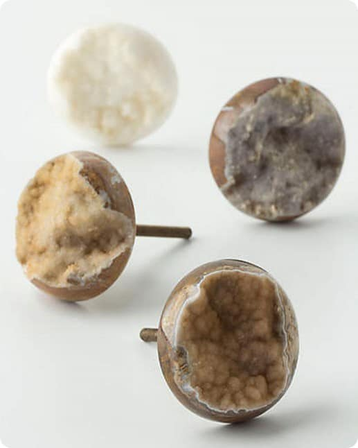 Druzy Quartz Knob from Anthropologie