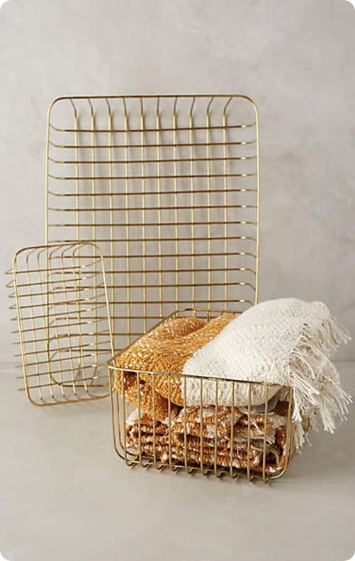 Forged Wire Baskets from Anthropologie