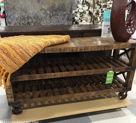HomeGoods Rustic Industrial Console