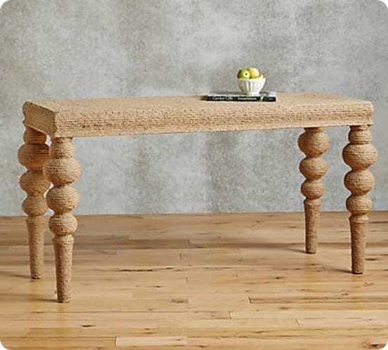 Jute Wrapped Console from Anthropologie