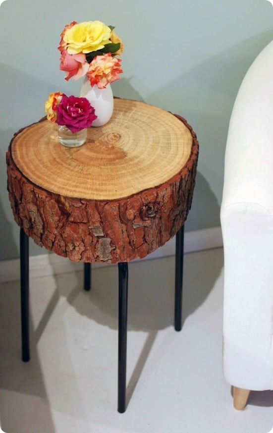 Log Slice Accent Table