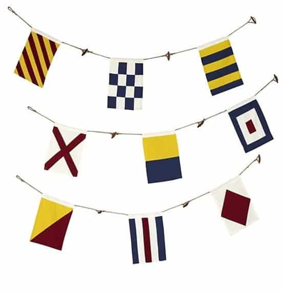Nautical Flag Banner from Land of Nod