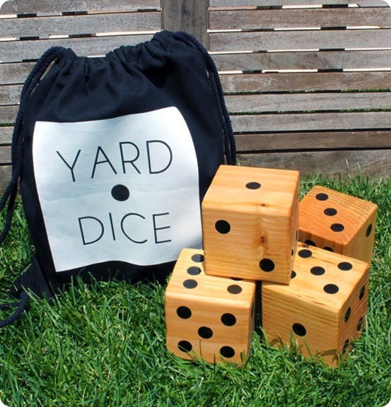 Outdoor Games ~ Crate & Barrel Knock Off Yard Dice
