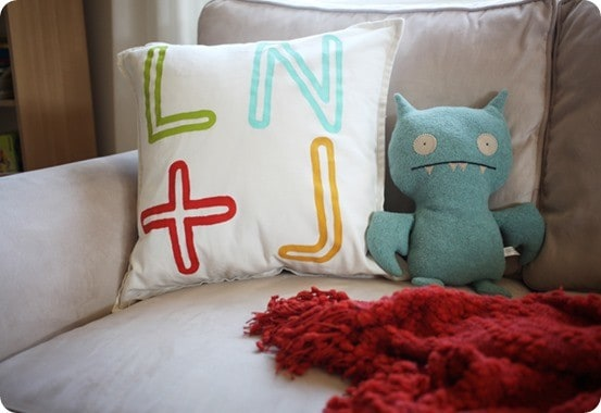 Personalized Initial Pillow inspired by Land of Nod