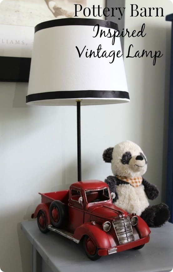 Pottery Barn Inspired Truck Lamp